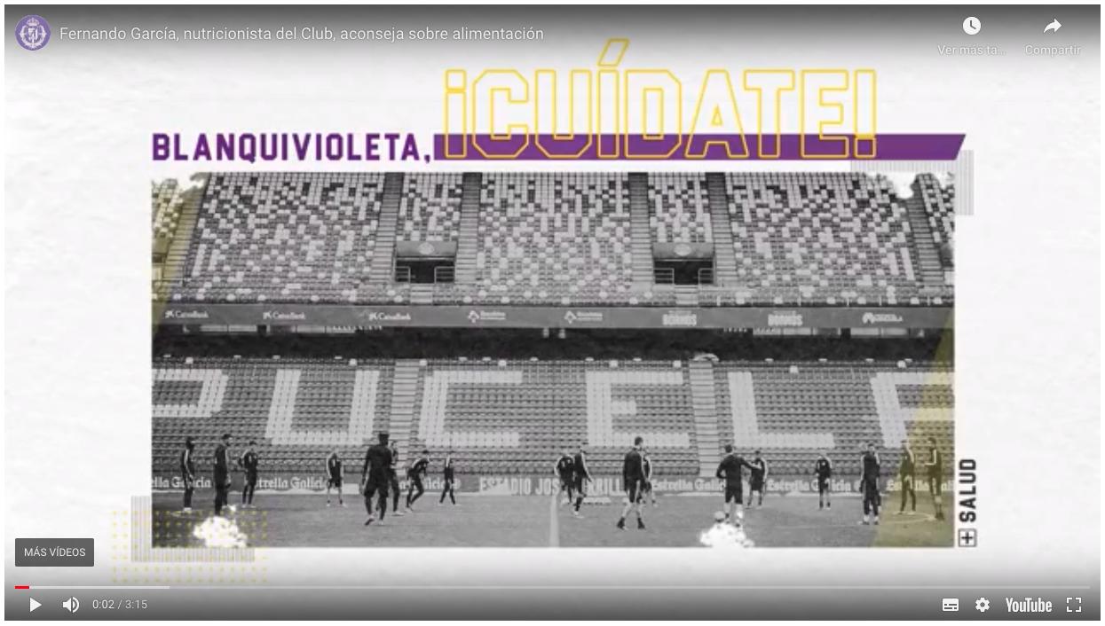 Información sobre el corono virus del Real Valladolid para sus jugadores